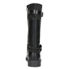 Black Girls' Leather High Boots mini-b, black , 391-6655 - 15