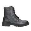 Children's Leather Lace-Up Boots bullboxer, black , 496-6016 - 26