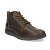 Men's leather ankle boots bata, brown , 846-4645 - 13