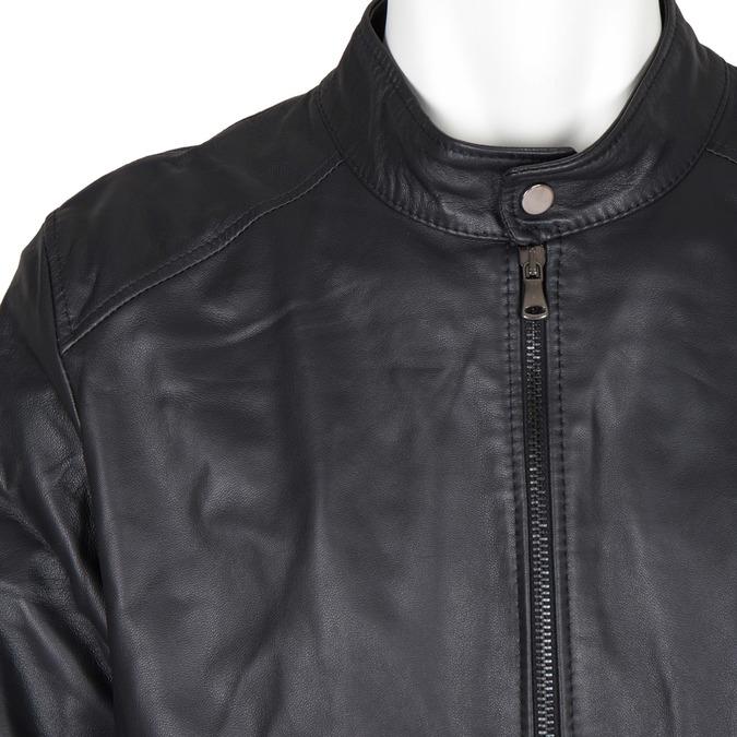 Men's Leather Jacket bata, black , 974-6154 - 16