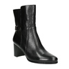 Leather ankle boots with heels bata, black , 696-6648 - 13