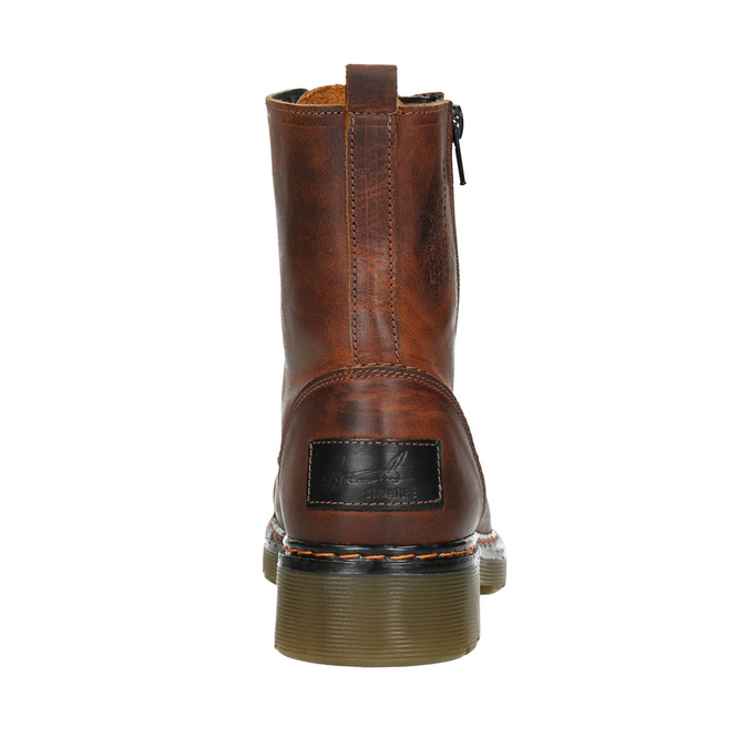 Ladies' ankle boots with zip bata, brown , 596-3681 - 16