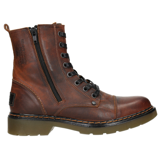 Ladies' ankle boots with zip bata, brown , 596-3681 - 26