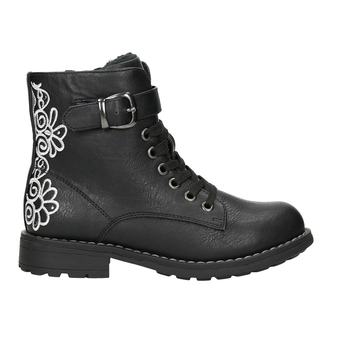 Children's Ankle Boots with Embroidery mini-b, black , 391-6654 - 15