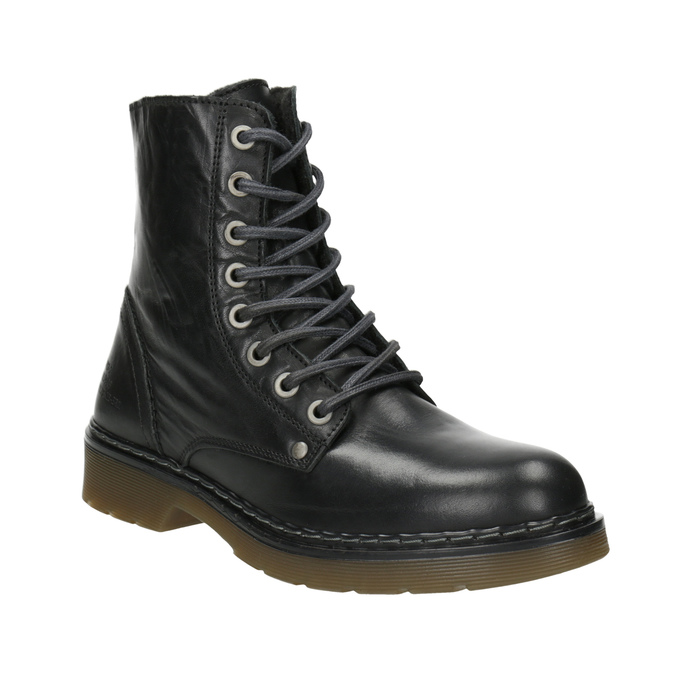 Ladies' Leather Ankle Boots bata, black , 594-6681 - 13