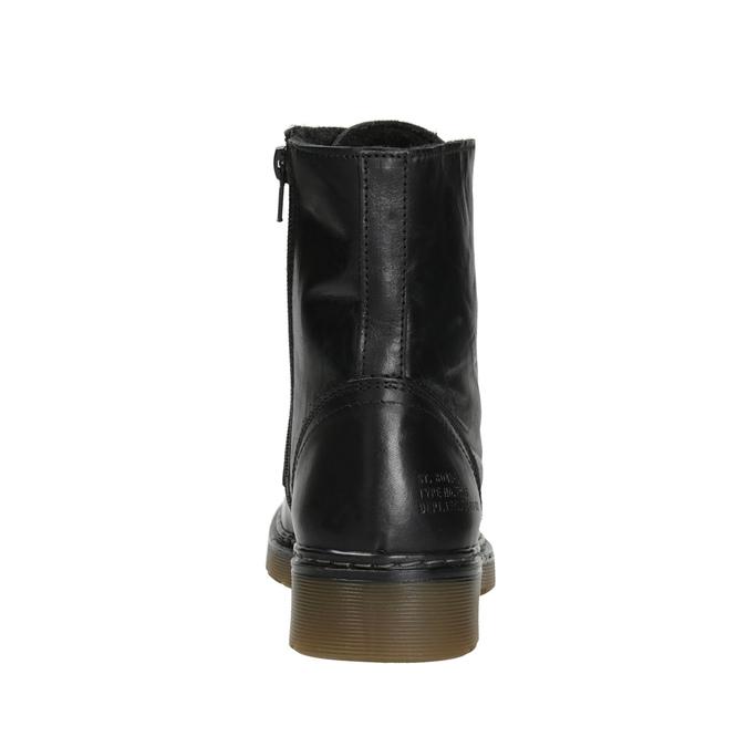 Ladies' Leather Ankle Boots bata, black , 594-6681 - 16