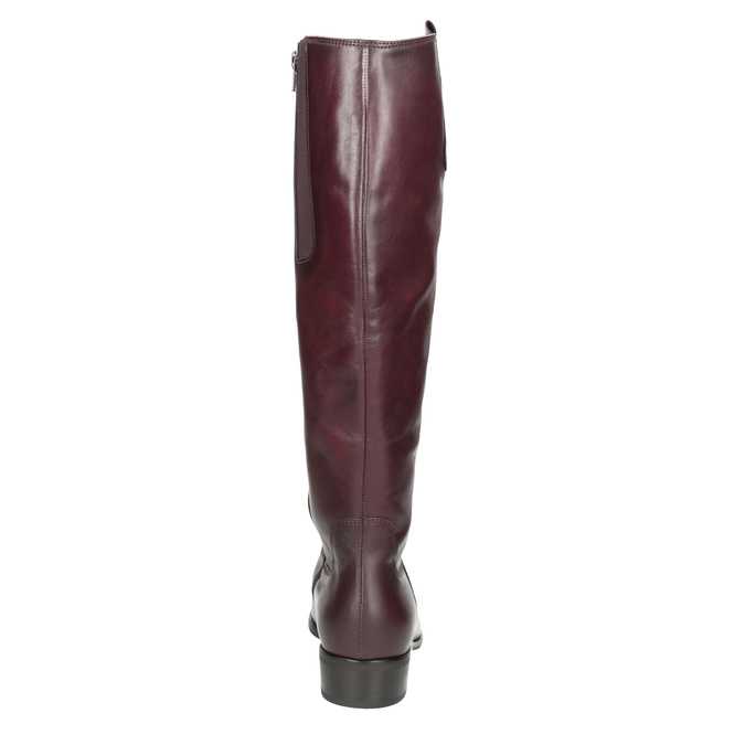 Burgundy High Leather Boots gabor, red , 696-5191 - 16