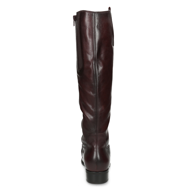 Burgundy High Leather Boots gabor, red , 696-5191 - 15