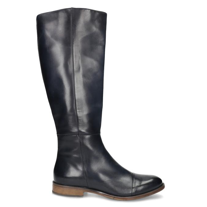 Ladies' Leather High Boots bata, blue , 594-9637 - 19
