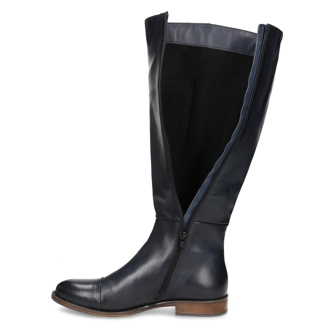 Ladies' Leather High Boots bata, blue , 594-9637 - 17