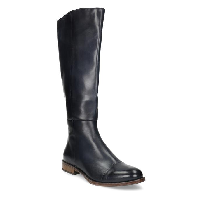 Ladies' Leather High Boots bata, blue , 594-9637 - 13