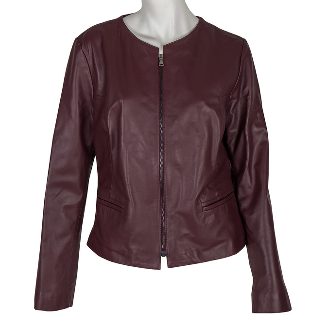 Ladies' Leather Jacket bata, multicolor, 974-0143 - 13