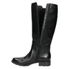 Leather High Boots with Elastic Panel bata, black , 596-6655 - 26