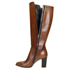Leather High Boots with Stitching bata, brown , 794-4356 - 26