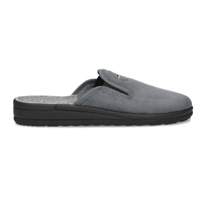Men's Slippers bata, gray , 879-2610 - 19
