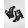 Leather high ankle boots bata, black , 694-6640 - 18