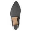Leather heeled high boots bata, black , 794-6356 - 19
