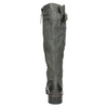 Leather High Boots with a Sturdy Sole bata, gray , 596-9662 - 16