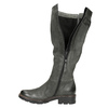 Leather High Boots with a Sturdy Sole bata, gray , 596-9662 - 15