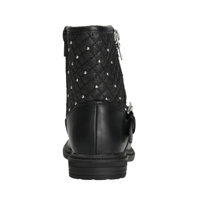 Girls' Zipper High Boots mini-b, black , 291-6396 - 16