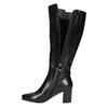 High Boots with a Sturdy Heel bata, black , 694-6638 - 26