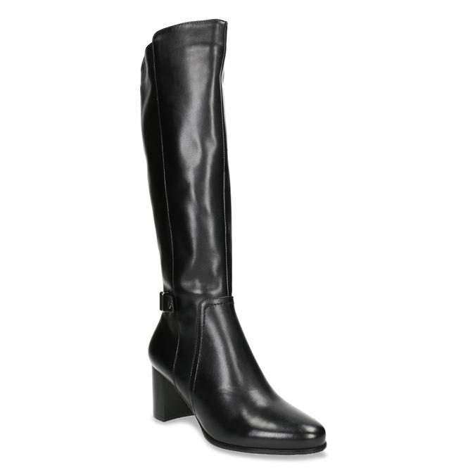 High Boots with a Sturdy Heel bata, black , 694-6638 - 13
