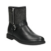 Girls' high boots with rhinestones mini-b, black , 391-6396 - 13