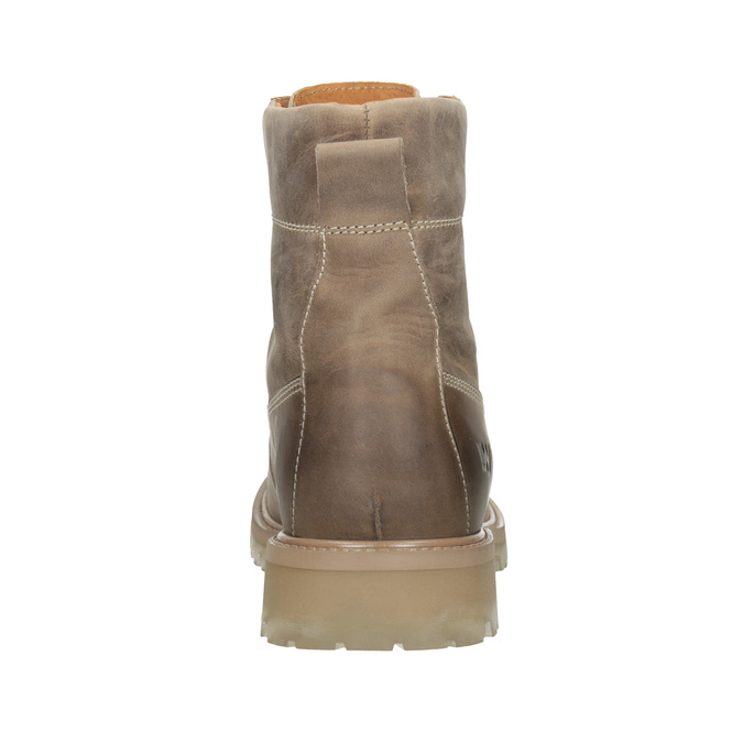 Brown leather ankle boots weinbrenner, 896-8702 - 16