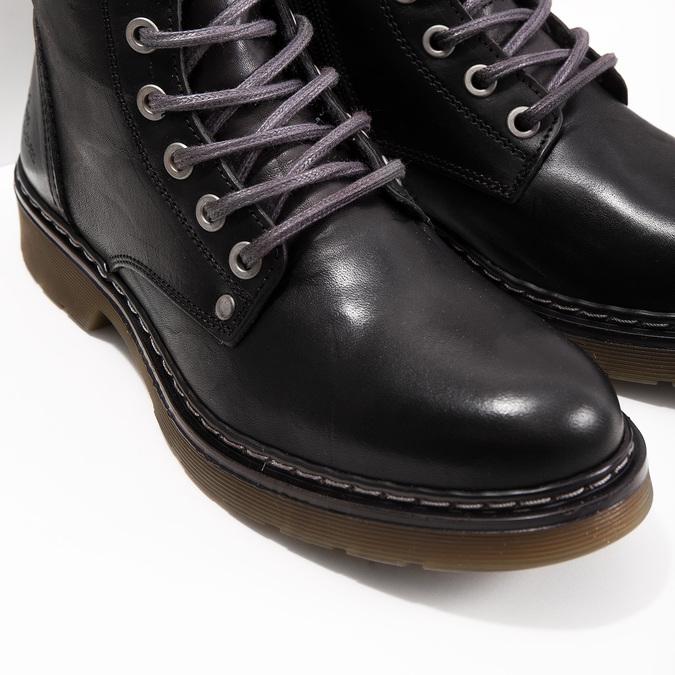 Ladies' Leather Ankle Boots bata, black , 594-6681 - 14