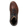 Leather Men's Boots with a Sturdy Sole bata, brown , 896-4665 - 26