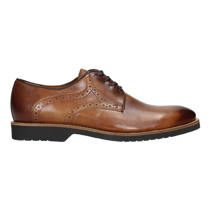 Men's leather Brogue shoes conhpol, brown , 826-3921 - 26