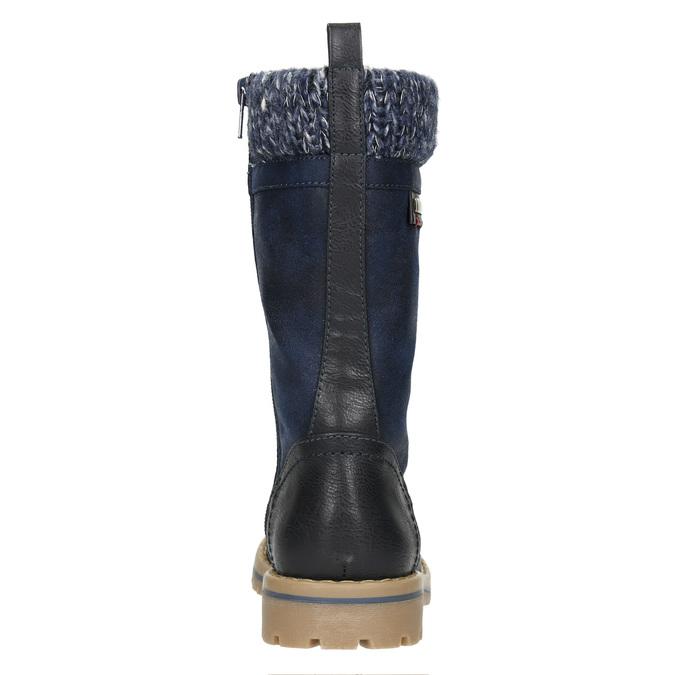 Girls' Winter Boots with Knit Jumper mini-b, blue , 391-9657 - 17
