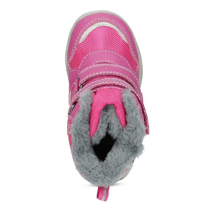 Pink Children's Snow Boots bubblegummer, pink , 199-5602 - 17