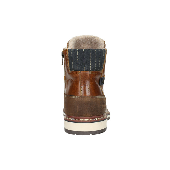 Men's Leather Winter Boots bata, brown , 896-3666 - 17