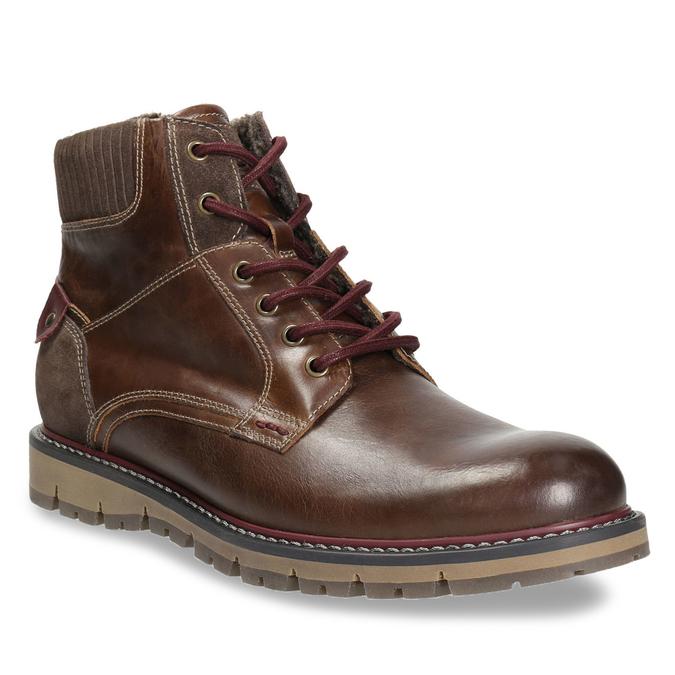 Men's Winter Ankle Boots bata, brown , 896-4657 - 13