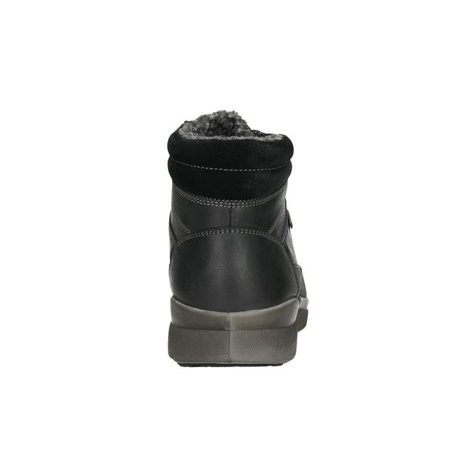 Men's Leather Winter Boots bata, black , 896-6672 - 17