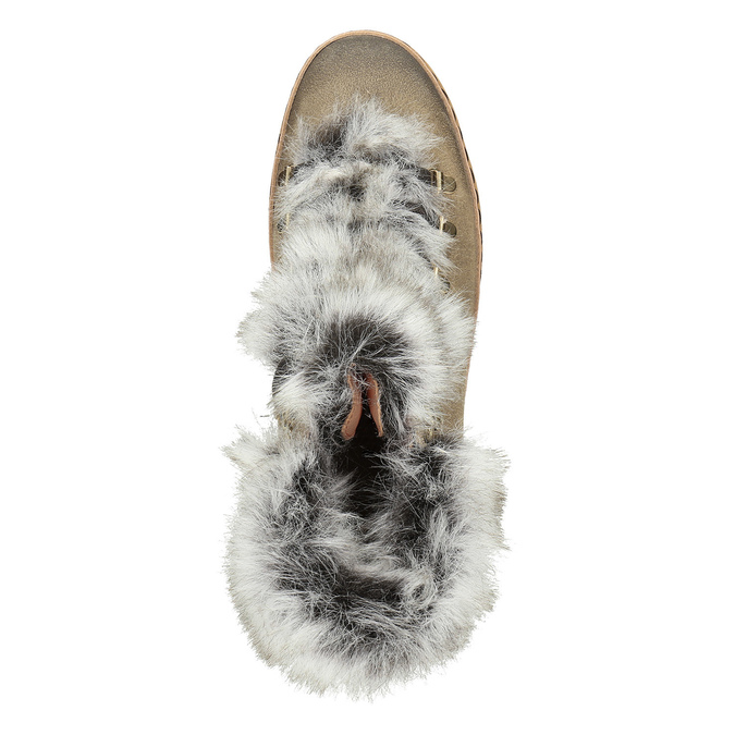 Ladies' winter boots with artificial fur bata, brown , 596-3675 - 15