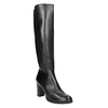 Leather High-Heeled High Boots bata, black , 794-6648 - 13