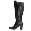 Leather High-Heeled High Boots bata, black , 794-6648 - 26
