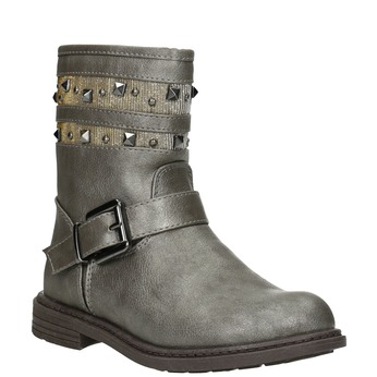 Girls' High Boots with Studs mini-b, gold , 291-3398 - 13
