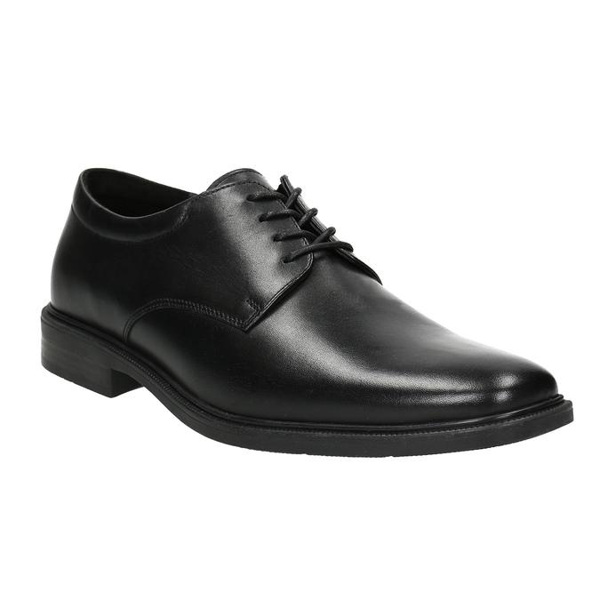 Men's Leather Derby Shoes climatec, black , 824-6941 - 13