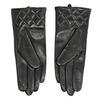 Ladies' black leather gloves bata, black , 904-6131 - 16