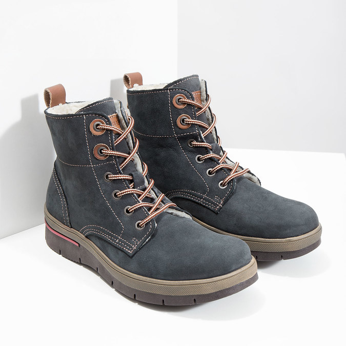 Ladies' leather  winter boots weinbrenner, gray , 596-2636 - 18
