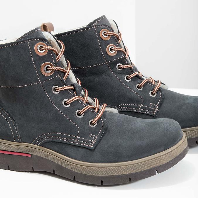 Ladies' leather  winter boots weinbrenner, gray , 596-2636 - 14