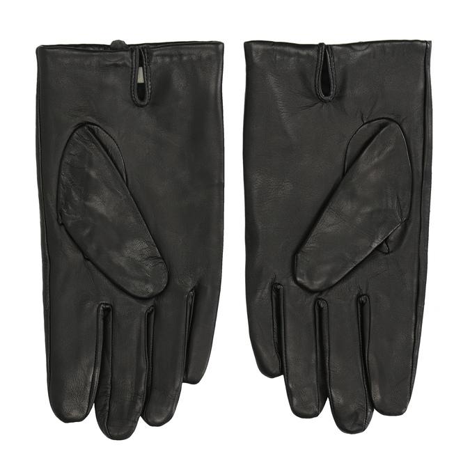 Black leather gloves bata, black , 904-6130 - 16