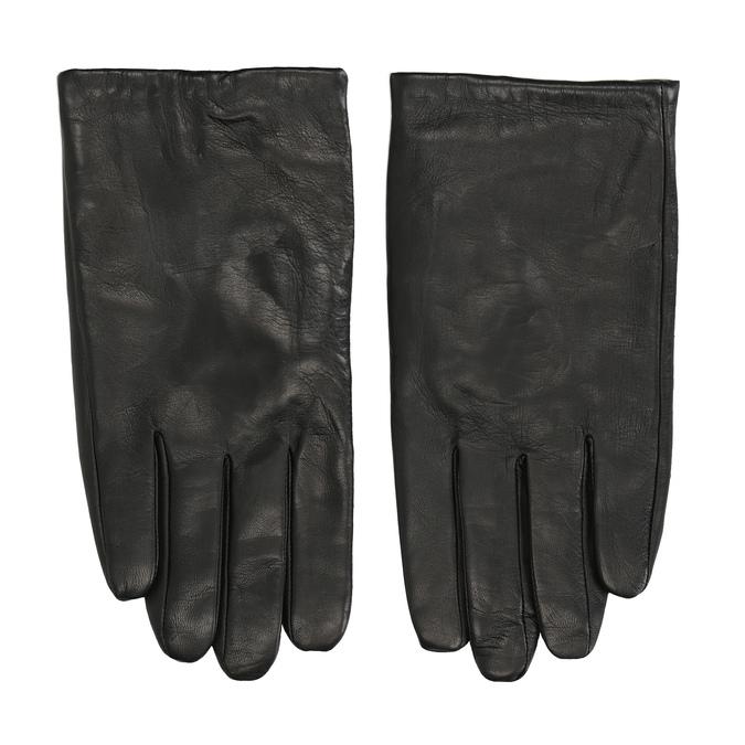 Black leather gloves bata, black , 904-6130 - 26
