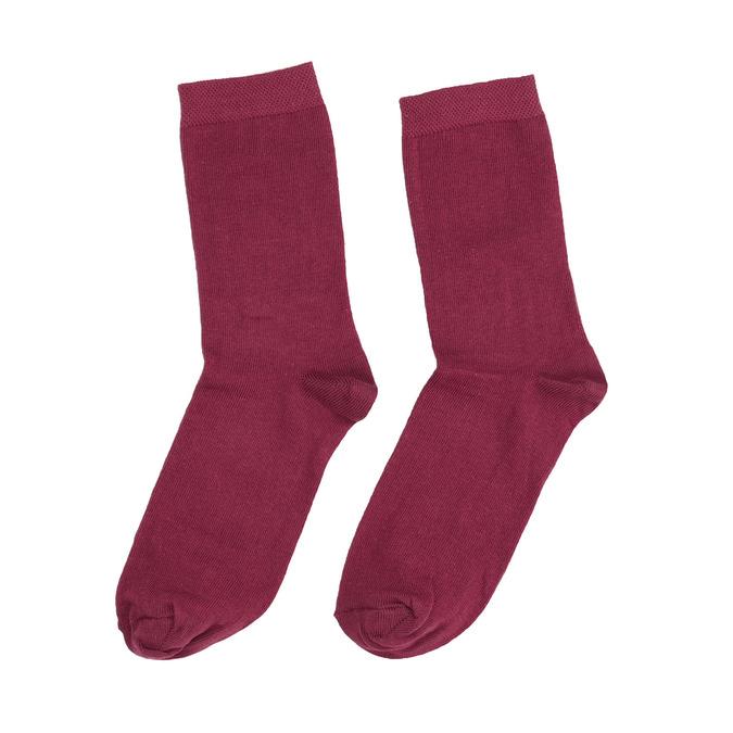 Ladies' Burgundy Socks bata, red , 919-5303 - 26