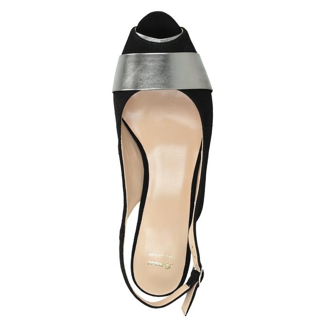 Ladies' court shoes bata, black , 623-6604 - 17