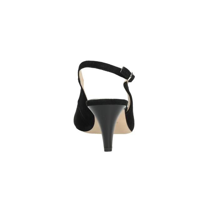 Ladies' court shoes bata, black , 623-6604 - 15