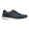 Casual brushed leather sneakers bata, blue , 846-9639 - 16